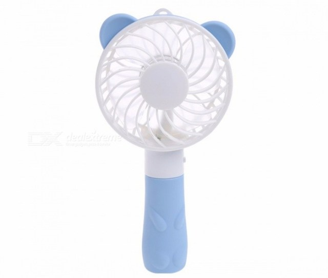 Portable Hand Fan Battery Operated Usb Power Handheld Mini Fan Cooler With Strap Chocolate
