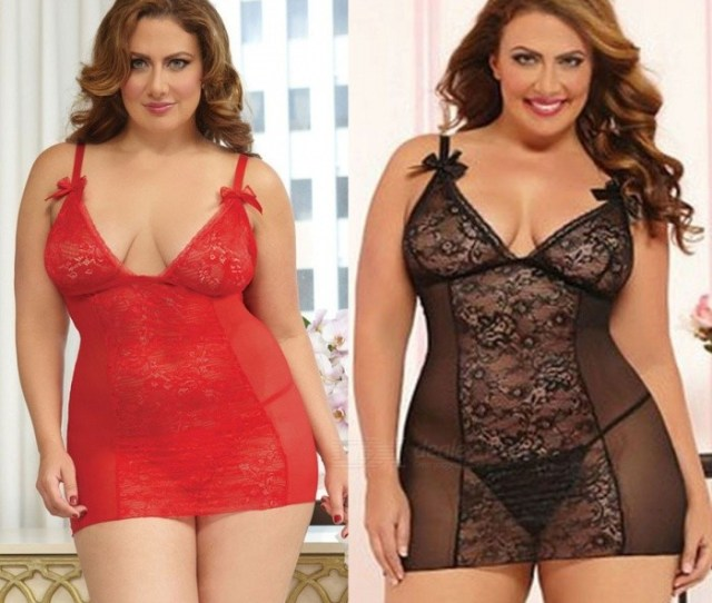 Women Erotic Costumes Sexy Lingerie Plus Size Open Back Lingerie Lace Babydoll Sleepwear Porno Lingerie For Women Red Xl