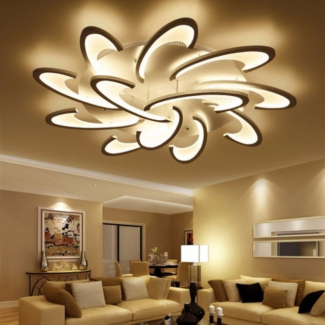 Lican Modern Led Ceiling Chandelier Light White Black Ac85 265v Chandeliers Fixtures For Living Room Bedroom Dining Study Cool 12 Heads