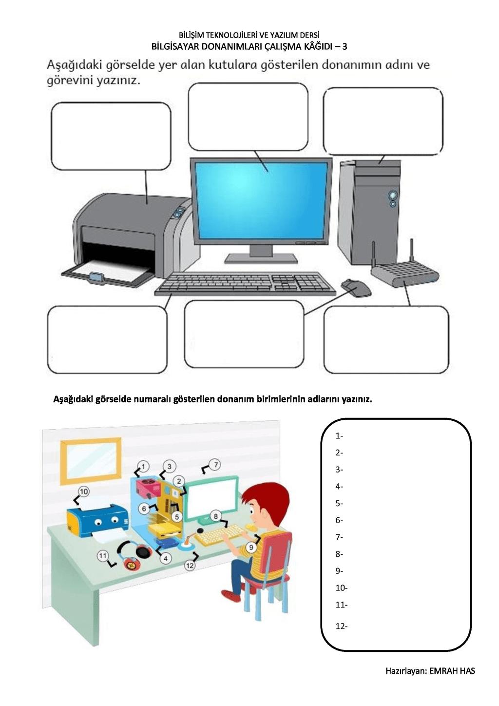 çalışma kağıdı -3