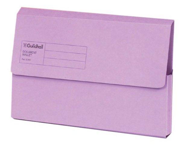 Guildhall Document Wallet Blue Angel Violet - 50 Pack - Ebuyer