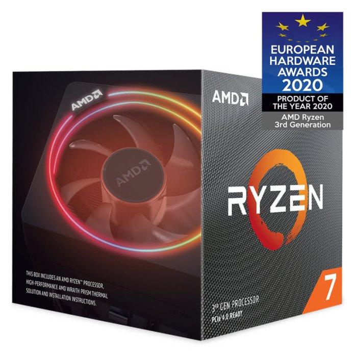 Amd Ryzen 7 3700x Am4 Cpu Processor With Wraith Prism Rgb Cooler Ebuyer Com