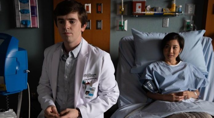 Freddie Highmore and Irene Choi in 'The Good Doctor'