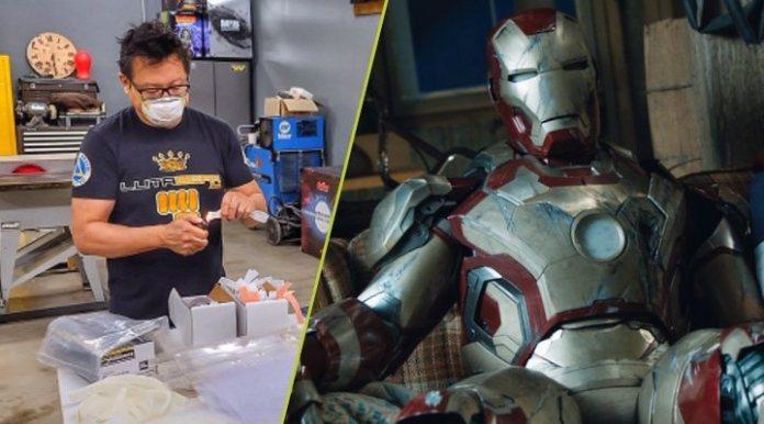 Eddie Yang making masks and armor of Iron Man