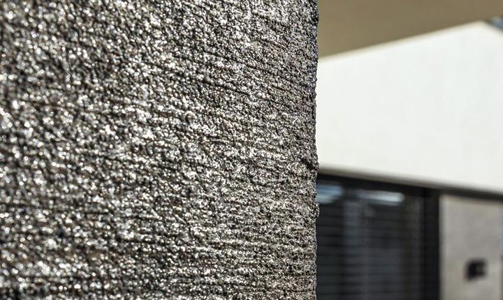 Speciali di tipo metallizzato sulla parete trattata con vento di. Pitture Decorative Ispirazioni Per Gli Interni