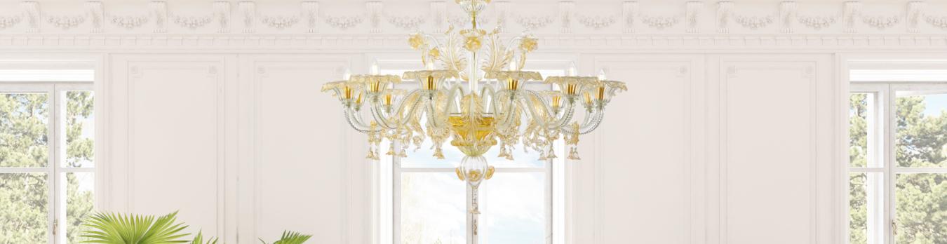 Ho acquistato dal sito di sogni di cristallo i lampadari nuovi per il soggiorno e la cucina: Sogni Di Cristallo Murano Glass Lamps Archiproducts
