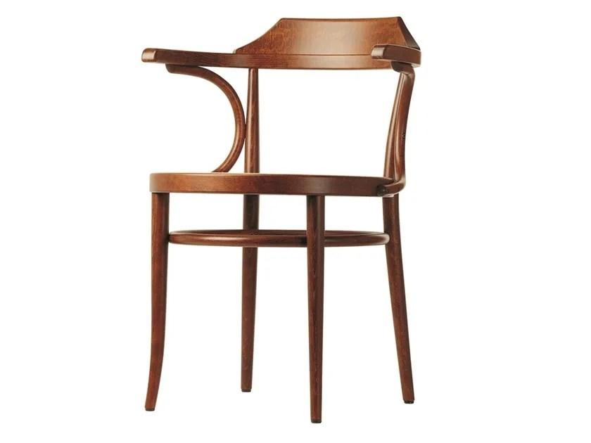 chaise en bois avec accoudoirs 233 by
