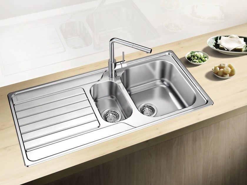 bowl built in stainless steel sink