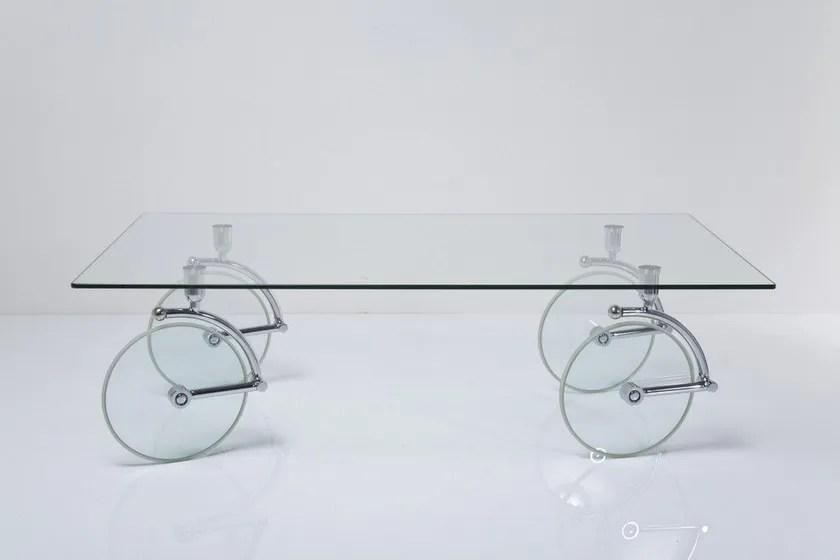 glas mit rollen coffee table by kare design