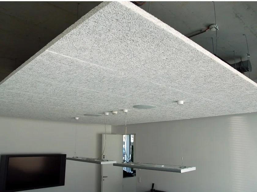 acoustic wood wool ceiling panels
