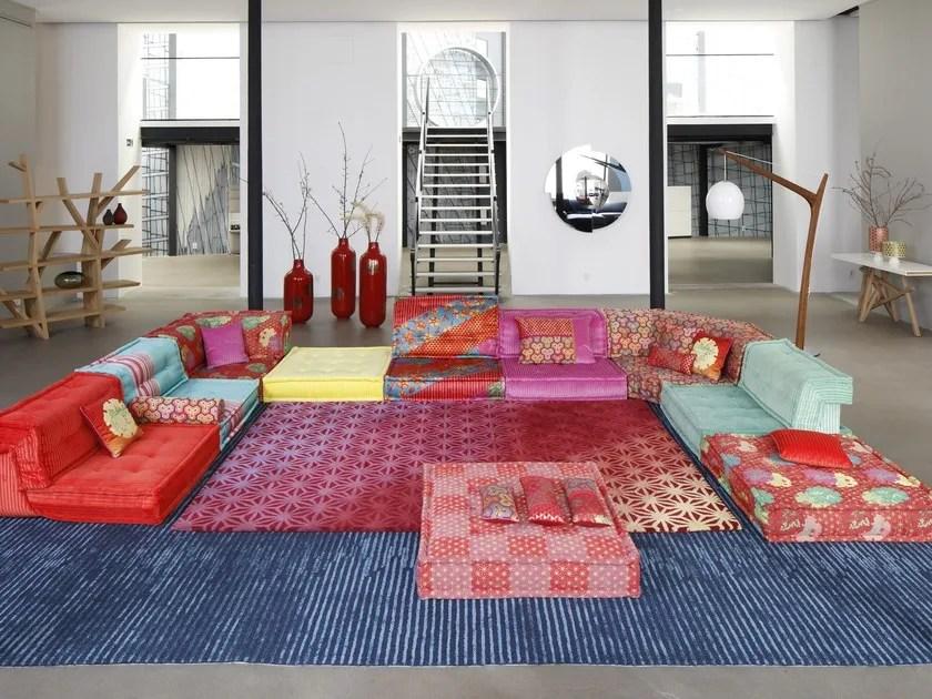 Sectional Modular Fabric Sofa MAH JONG