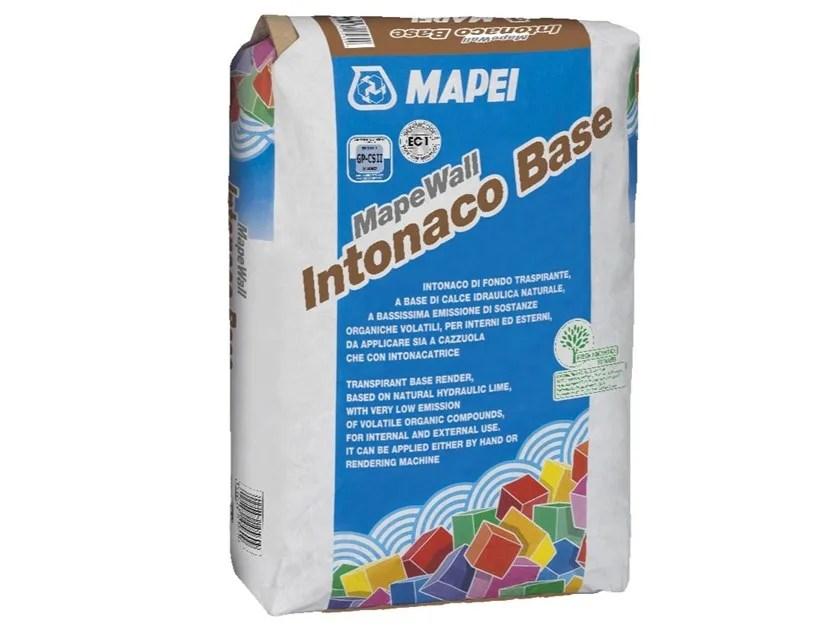 L'intonaco traspirante deumidificante può anche essere già colorato. Hydraulic And Hydrated Lime Based Plaster Mapewall Intonaco Base By Mapei