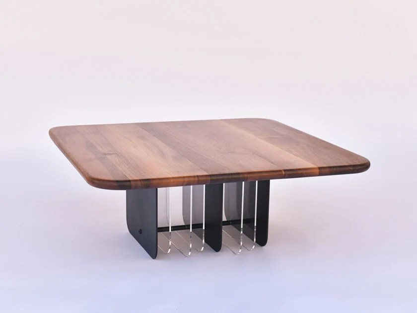 square walnut coffee table netto by rinocca