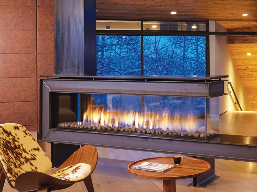 Gas 3 Sided Built In Fireplace Penisola 200 By British Fires