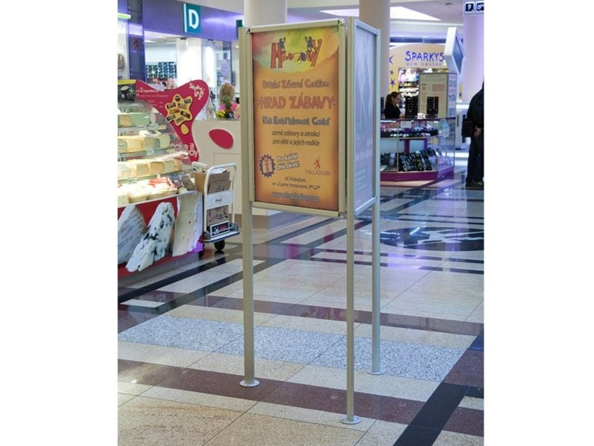 lati freestanding double sided notice board