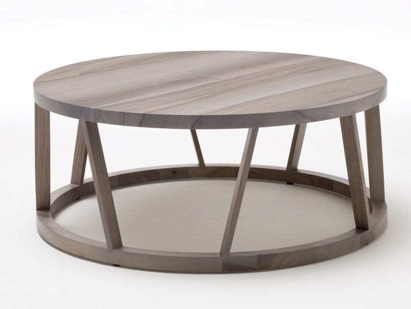 round wooden coffee table for living