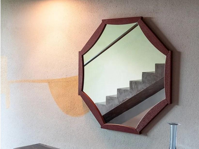 Framed Wall Mounted Oak Mirror Sunflower By Devina Nais   Oak Wall Mounted Handrail   Oak Stair   Mopstick   Return   Handrail Bracket   Contemporary