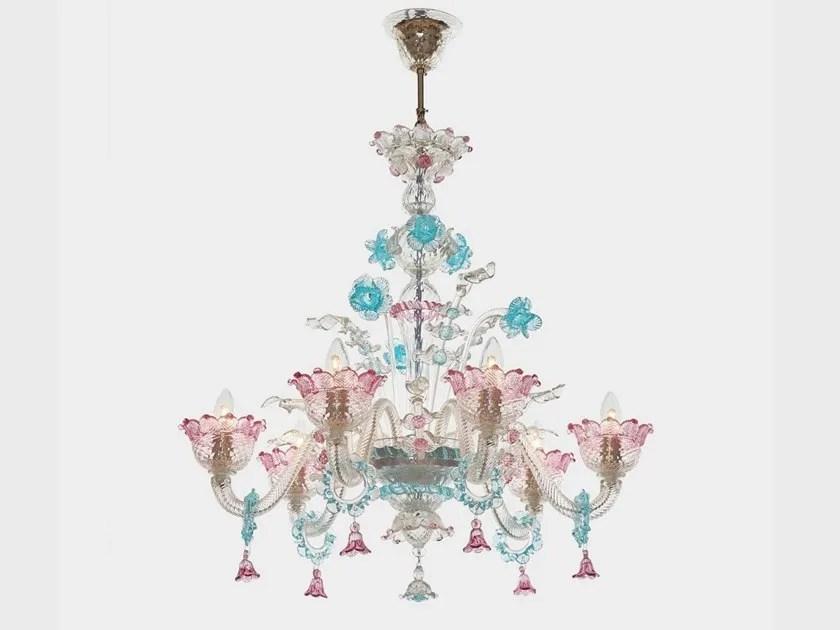 Autentico lampadario classico in vetro soffiato. Apollo Original Edition Lampadario Collezione Classici Veneziani By Sogni Di Cristallo