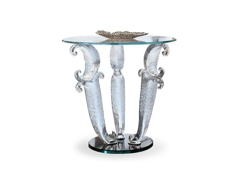 round glass coffee table casanova
