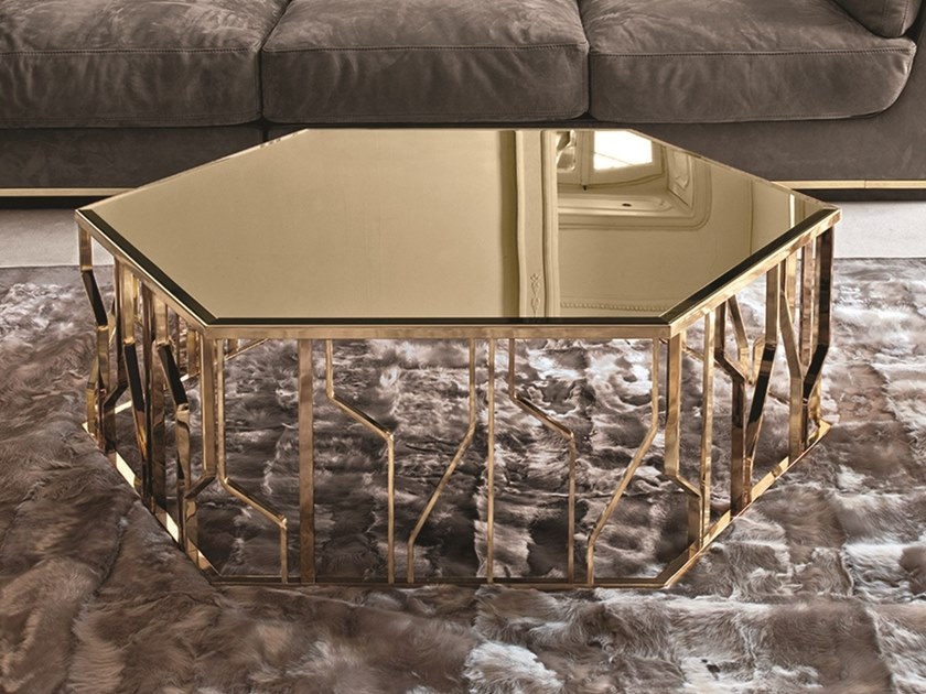 ginza mirrored glass coffee table