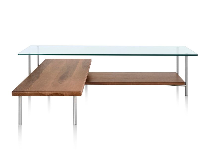 layer glass coffee table layer