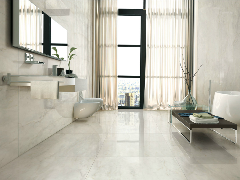 Porcelain Stoneware Wallfloor Tiles With Marble Effect I
