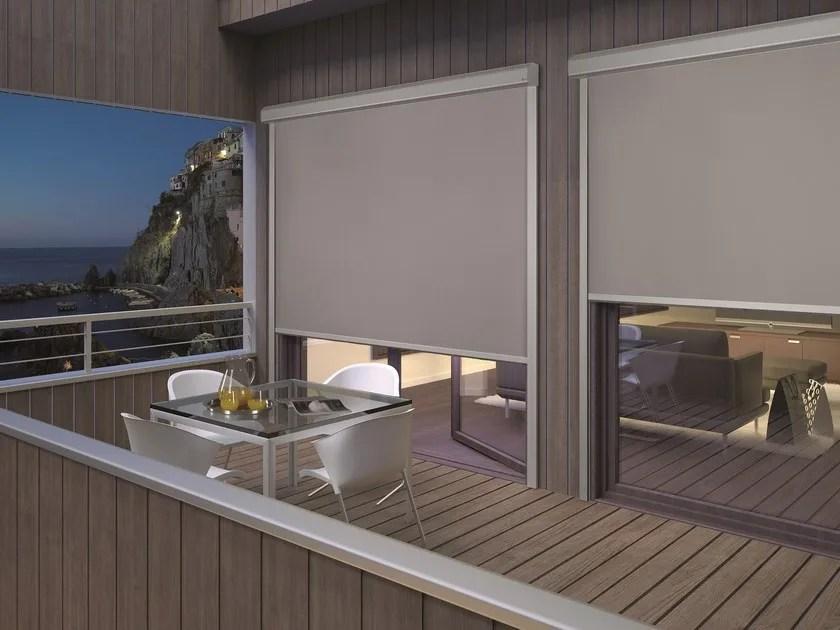 Qmotion® è la moderna tenda decorativa per interni, automatica. Tenda Da Sole A Caduta Motorizzata Con Guide Laterali Rollbox Wpro Mottura