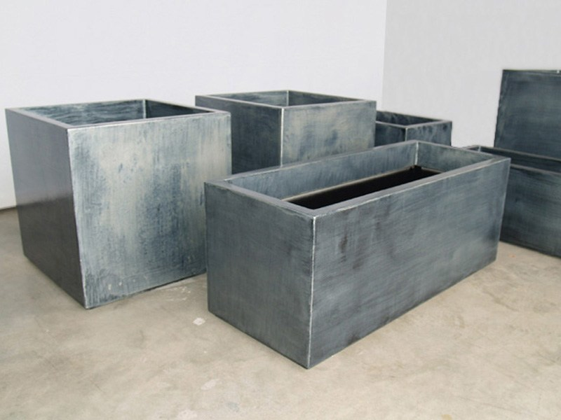 Fiber Cement Planter Patinated Zinc Planters By IMAGE'IN