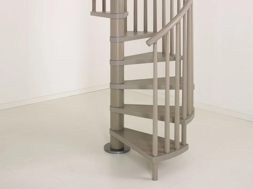 Genius 070 Spiral Staircase By Fontanot   Stainless Steel Spiral Staircase   Custom Iron   Wooden   Indoor   Bronze   Top