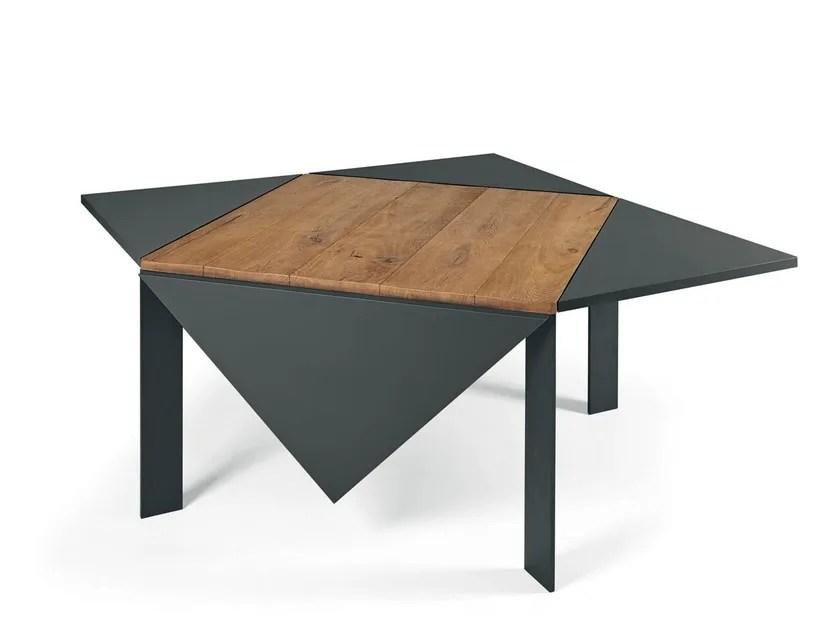 table extensible carree en bois loto by