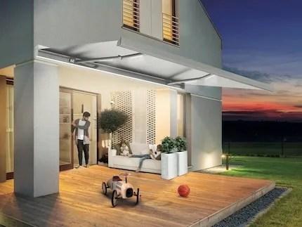 Una realizzazione nell'hotellerie con tende da esterno pratic esprime un raffinato 'concetto' Folding Arm Awning R95 Stone Prestige Collection By Bt Group