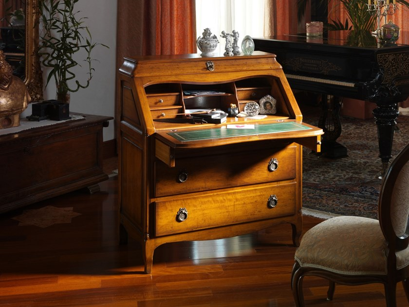 Approfittate dei nostri divani in offerta. Solid Wood Secretary Desk With Flap Doors And Drawers Roussillon Versailles Collection By Faber Mobili