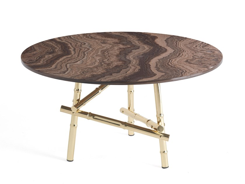 tobacco brown marble coffee table