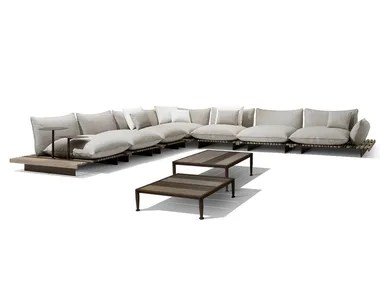 Outdoor furniture by GIORGETTI   Archiproducts Corner modular garden sofa APSARA   Garden sofa