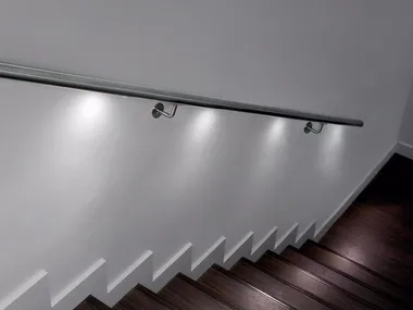 Led Handrails Archiproducts   Lighted Handrails For Stairs   Wood Hand Rail Design   Antique   Brushed Nickel   Modern   Acrylic