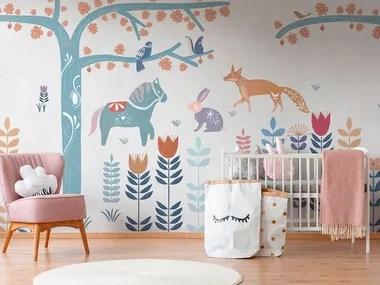 Buccia e bastone tangled bambini 3d murales carta da parati per la decorazione domestica. Carte Da Parati Per Bambini Complementi D Arredo Per La Cameretta Archiproducts