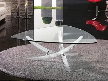 triangular glass coffee tables