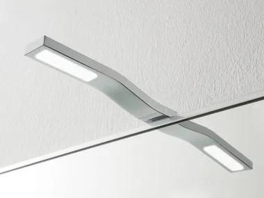84 cm., in metallo cromato, ideale per l' illuminazione di specchi e quadri. Led Mirror Lamp Stem By Rexa Design