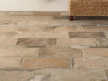 indoor flooring with terracotta effect