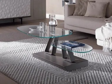 swivel glass coffee tables archiproducts