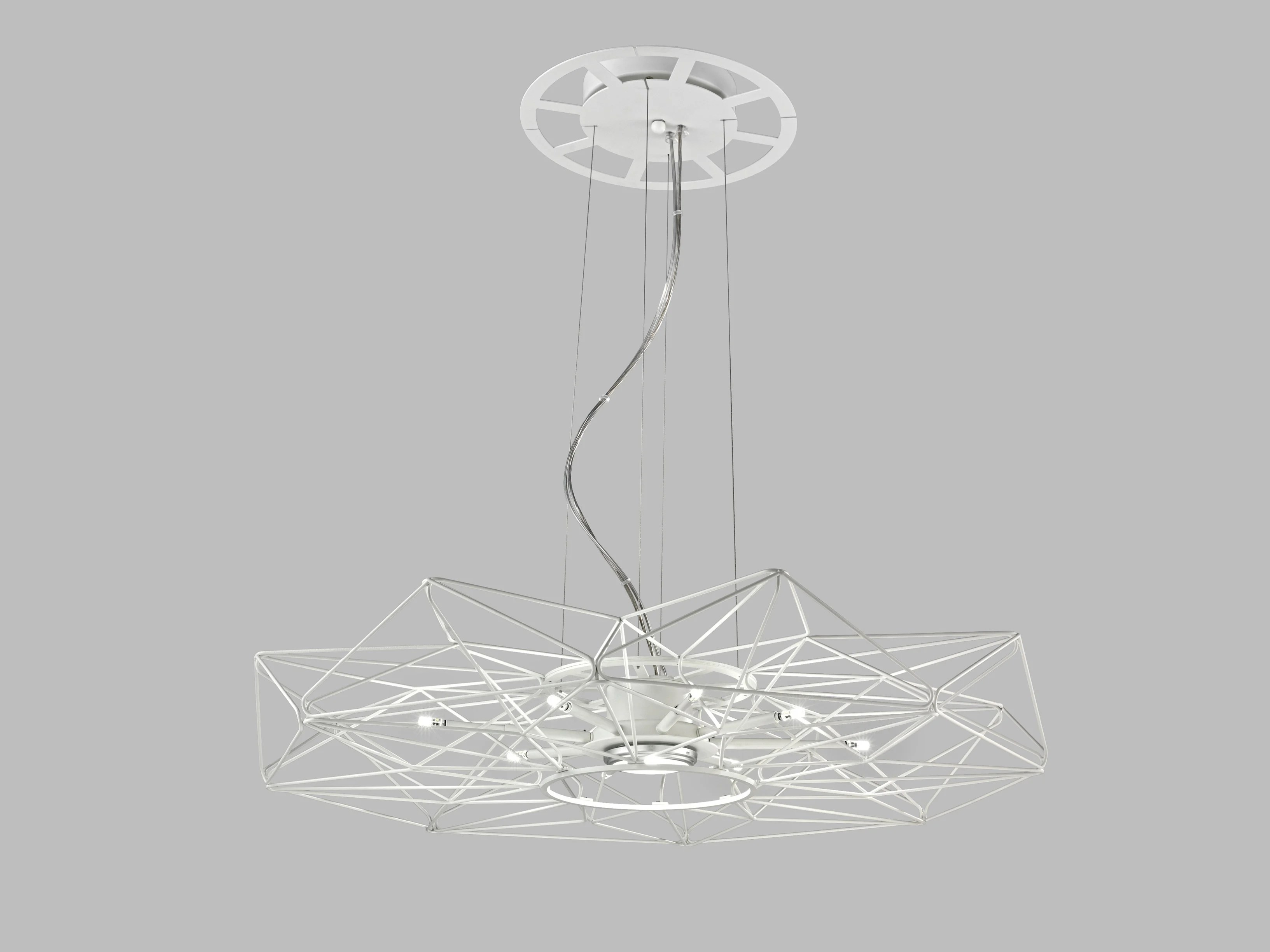 Led Painted Metal Pendant Lamp Altatensione By Metal Lux