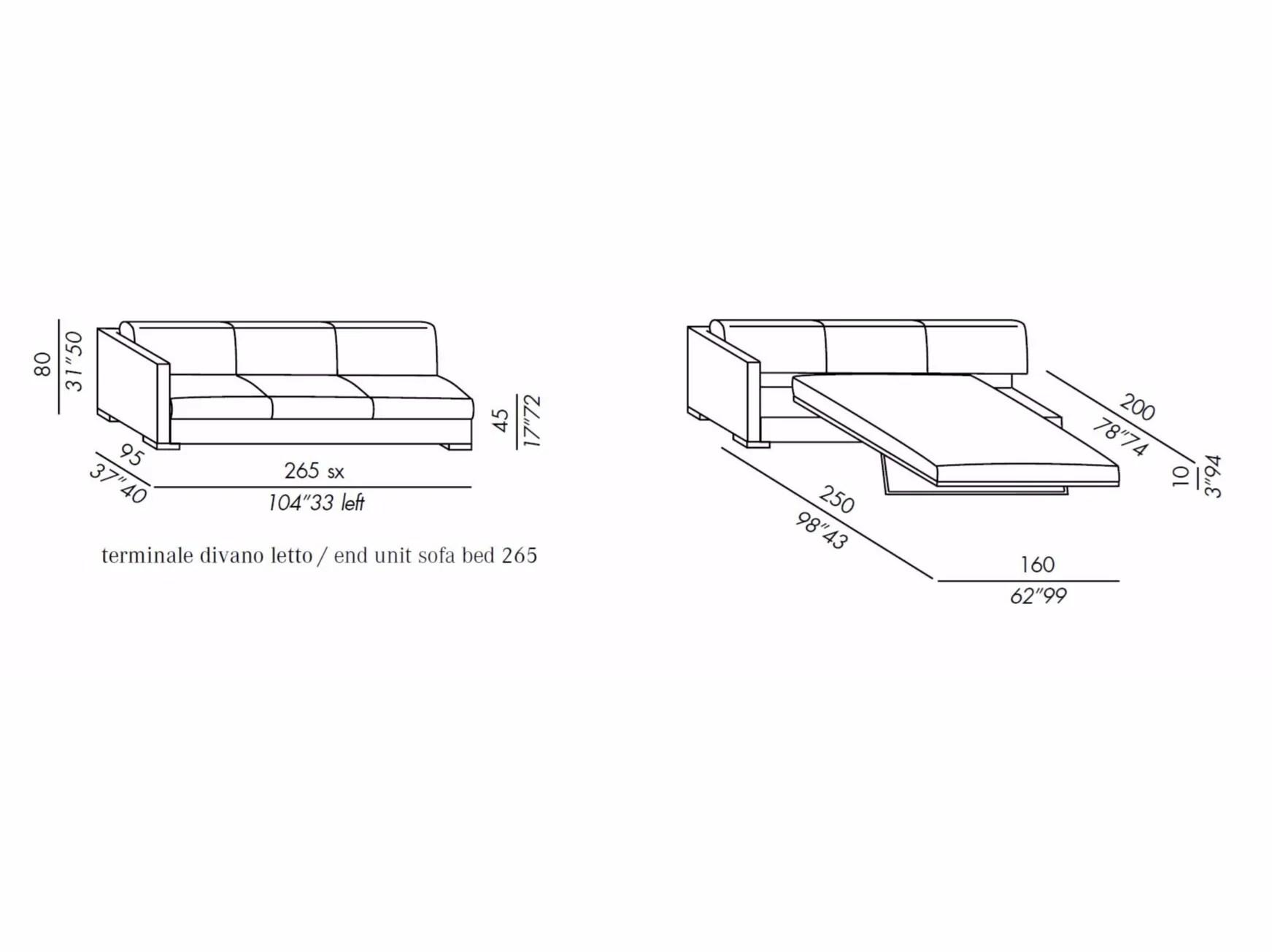 Belmon Sofa Bed By Meridiani