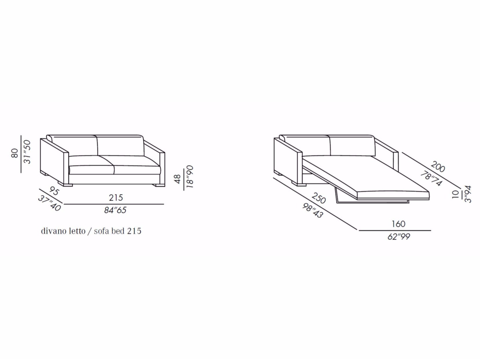 Dimensions Of Sofa Bed