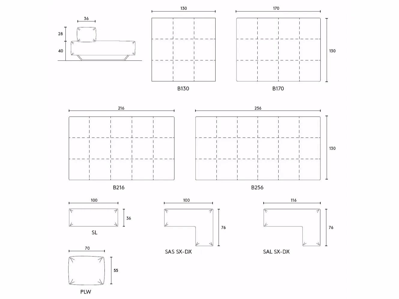 M1 Corner Sofa By Albedo S R L Unipersonale Design Ma Design