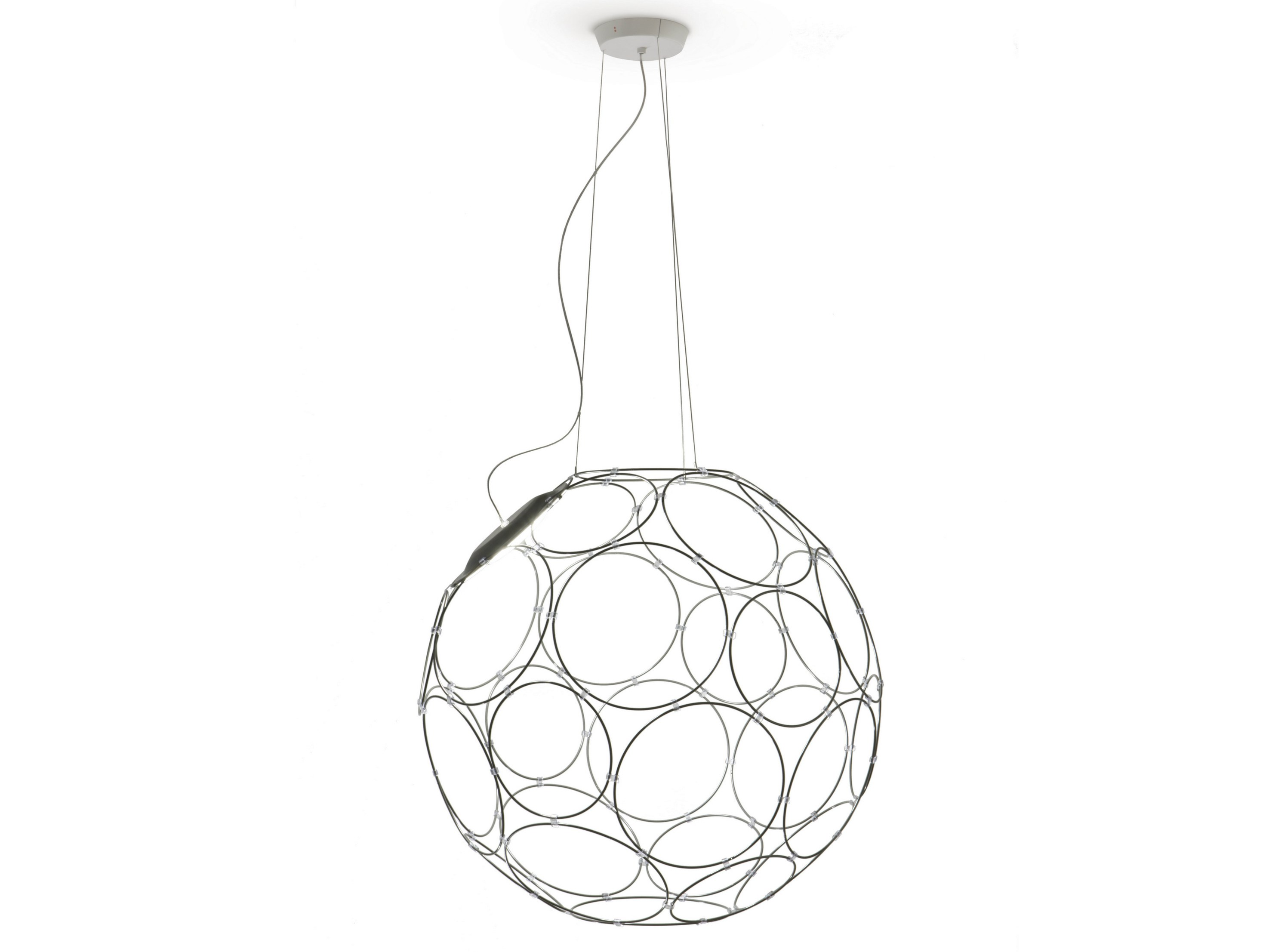 Led Steel Pendant Lamp Giro By Fabbian
