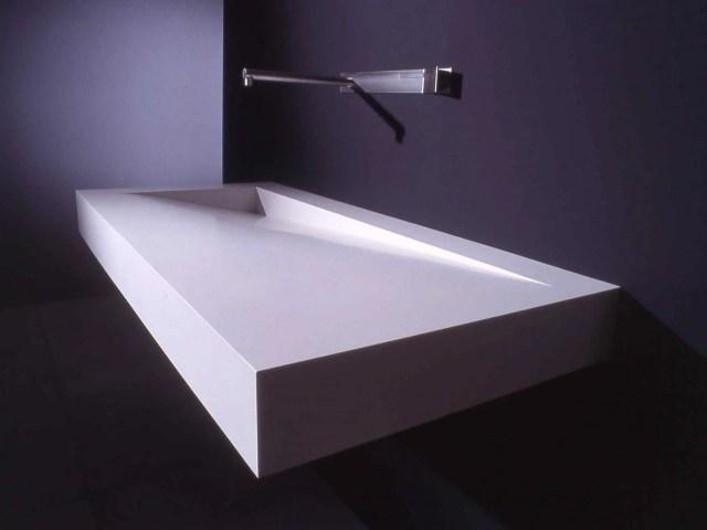 Rectangular Corian washbasin FOLIO By Boffi design Neunzig° Design