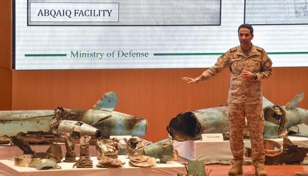 Resultado de imagen para Fotos de los restos de las armas con las que fueron atacadas las instalaciones petrolíferas saudíes