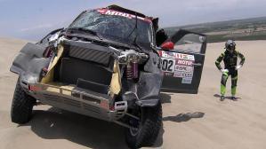 Así quedó el auto de Nani Roma luego del accidente en la tercera etapa del Dakar que lo mandó al hospital
