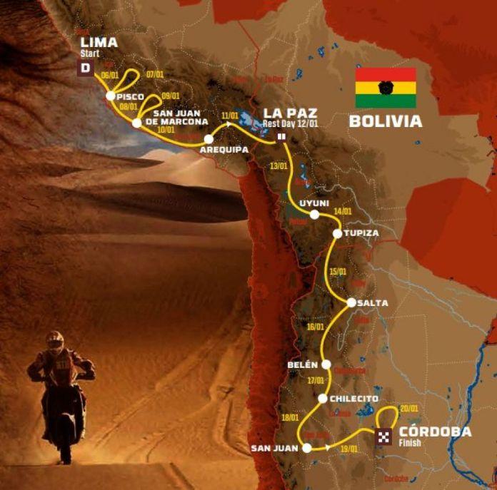 Mapa del Rally Dakar 2018. (Foto: Rally Dakar)