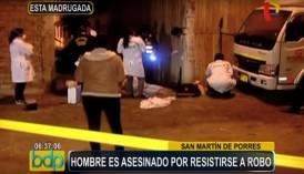 San Martín de Porres: hombre fue perseguido y asesinado a balazos